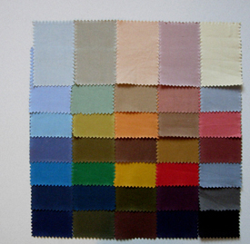 General colour card dyed on cotton